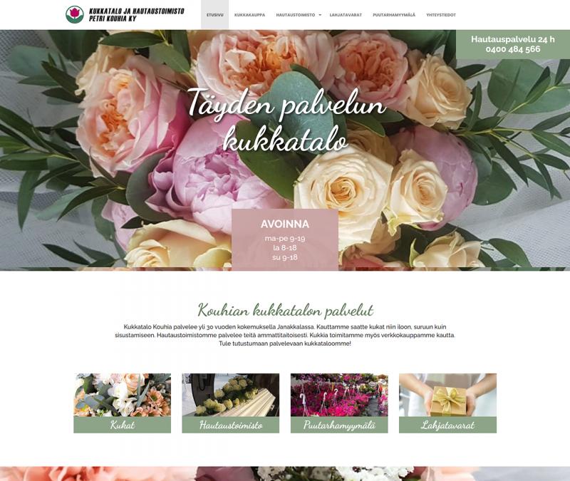 Kukkatalo ja hautauspalvelu Petri Kouhia Ky
